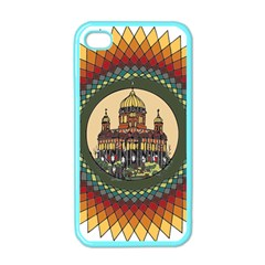 Building Mandala Palace Apple Iphone 4 Case (color)