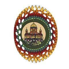 Building Mandala Palace Oval Filigree Ornament (two Sides)