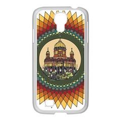 Building Mandala Palace Samsung Galaxy S4 I9500/ I9505 Case (white)