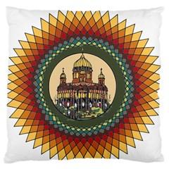 Building Mandala Palace Standard Flano Cushion Case (two Sides)