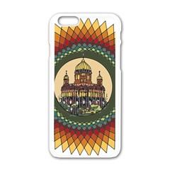 Building Mandala Palace Apple Iphone 6/6s White Enamel Case