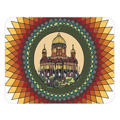 Building Mandala Palace Double Sided Flano Blanket (large)