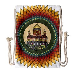 Building Mandala Palace Drawstring Bag (large)