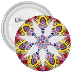 Colorful Chromatic Psychedelic 3  Buttons