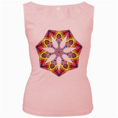Colorful Chromatic Psychedelic Women s Pink Tank Top