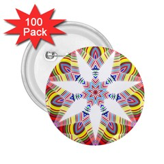 Colorful Chromatic Psychedelic 2 25  Buttons (100 Pack)