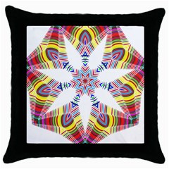Colorful Chromatic Psychedelic Throw Pillow Case (black)