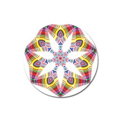 Colorful Chromatic Psychedelic Magnet 3  (round)