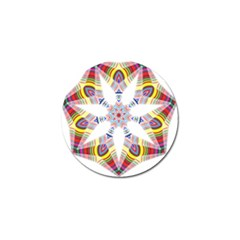 Colorful Chromatic Psychedelic Golf Ball Marker
