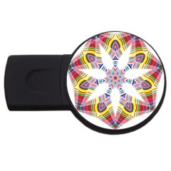 Colorful Chromatic Psychedelic Usb Flash Drive Round (2 Gb)