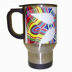 Colorful Chromatic Psychedelic Travel Mugs (white)