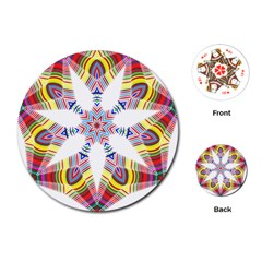Colorful Chromatic Psychedelic Playing Cards (round)