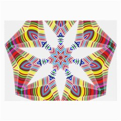 Colorful Chromatic Psychedelic Large Glasses Cloth (2 Side)