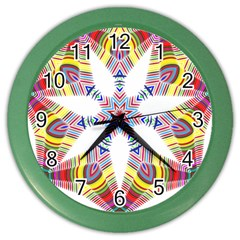 Colorful Chromatic Psychedelic Color Wall Clocks