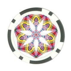 Colorful Chromatic Psychedelic Poker Chip Card Guard