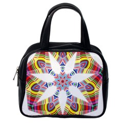Colorful Chromatic Psychedelic Classic Handbags (one Side)