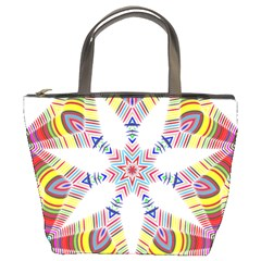 Colorful Chromatic Psychedelic Bucket Bags