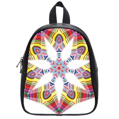 Colorful Chromatic Psychedelic School Bag (small)