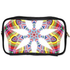 Colorful Chromatic Psychedelic Toiletries Bags 2 Side