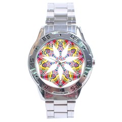 Colorful Chromatic Psychedelic Stainless Steel Analogue Watch