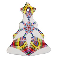 Colorful Chromatic Psychedelic Christmas Tree Ornament (two Sides)