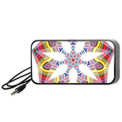 Colorful Chromatic Psychedelic Portable Speaker (black)