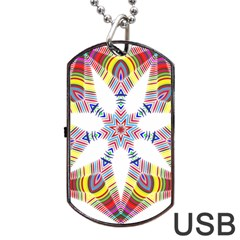 Colorful Chromatic Psychedelic Dog Tag Usb Flash (one Side)