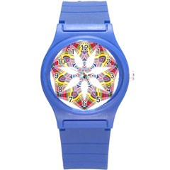 Colorful Chromatic Psychedelic Round Plastic Sport Watch (s)