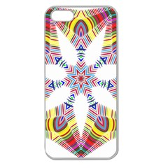 Colorful Chromatic Psychedelic Apple Seamless Iphone 5 Case (clear)