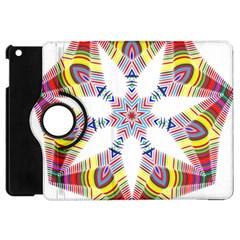 Colorful Chromatic Psychedelic Apple Ipad Mini Flip 360 Case