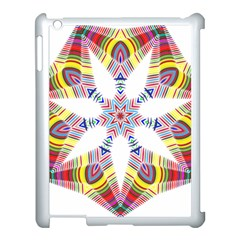 Colorful Chromatic Psychedelic Apple Ipad 3/4 Case (white)