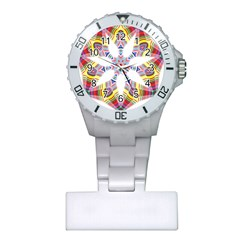 Colorful Chromatic Psychedelic Plastic Nurses Watch