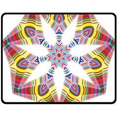 Colorful Chromatic Psychedelic Double Sided Fleece Blanket (medium)
