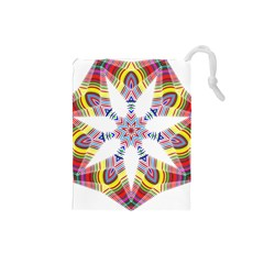 Colorful Chromatic Psychedelic Drawstring Pouches (small)