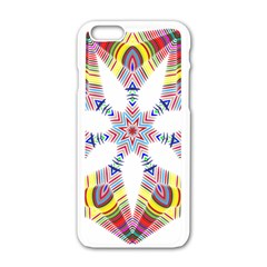 Colorful Chromatic Psychedelic Apple Iphone 6/6s White Enamel Case
