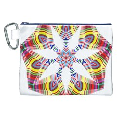 Colorful Chromatic Psychedelic Canvas Cosmetic Bag (xxl)