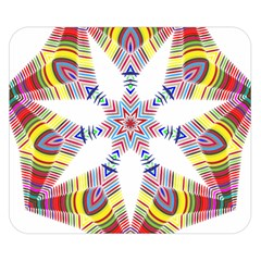 Colorful Chromatic Psychedelic Double Sided Flano Blanket (small)
