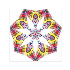 Colorful Chromatic Psychedelic Small Satin Scarf (square)