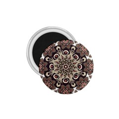 Mandala Pattern Round Brown Floral 1 75  Magnets