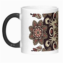 Mandala Pattern Round Brown Floral Morph Mugs