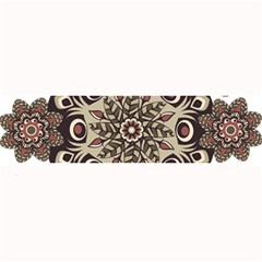 Mandala Pattern Round Brown Floral Large Bar Mats