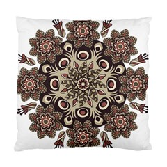 Mandala Pattern Round Brown Floral Standard Cushion Case (two Sides)