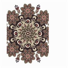 Mandala Pattern Round Brown Floral Large Garden Flag (two Sides)