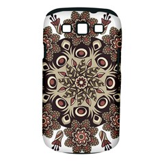 Mandala Pattern Round Brown Floral Samsung Galaxy S Iii Classic Hardshell Case (pc+silicone)