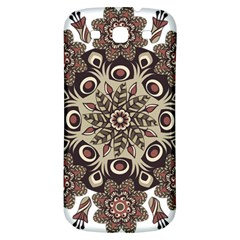 Mandala Pattern Round Brown Floral Samsung Galaxy S3 S Iii Classic Hardshell Back Case