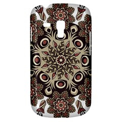 Mandala Pattern Round Brown Floral Galaxy S3 Mini
