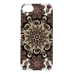 Mandala Pattern Round Brown Floral Apple Iphone 5s/ Se Hardshell Case
