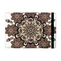 Mandala Pattern Round Brown Floral Ipad Mini 2 Flip Cases