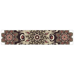 Mandala Pattern Round Brown Floral Flano Scarf (small)