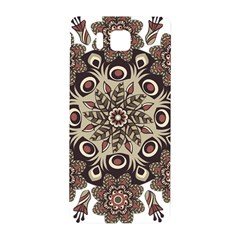 Mandala Pattern Round Brown Floral Samsung Galaxy Alpha Hardshell Back Case
